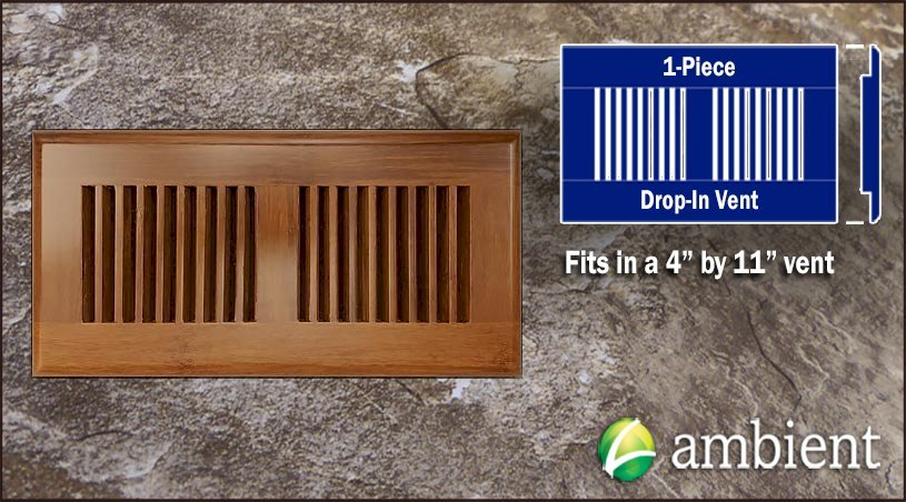 bamboo vent grill cover carbonized drop in 4x11