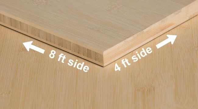 1/2 inch Natural Horizontal Unfinished Bamboo Plywood