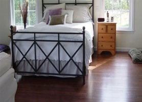 strand woven carbonized bed