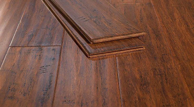Toasted Almond Handscraped Strand Bamboo Floor