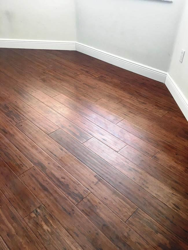 Cafe Brown Antiqued Eucalyptus Strand Floor Bedroom0