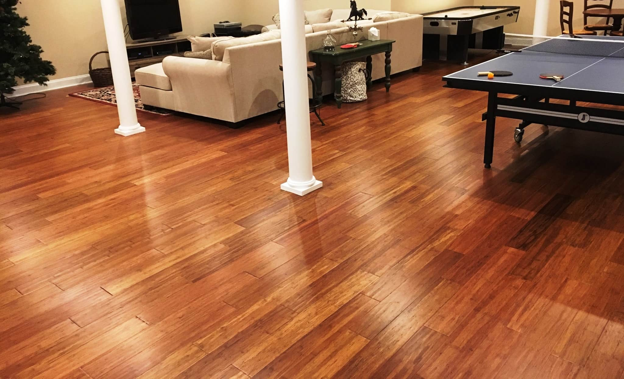 Carbonized Antiqued Solid Strand Bamboo Floor