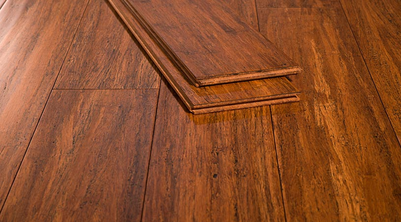 Carbonized Antiqued Solid Glueless Bamboo Floors0874