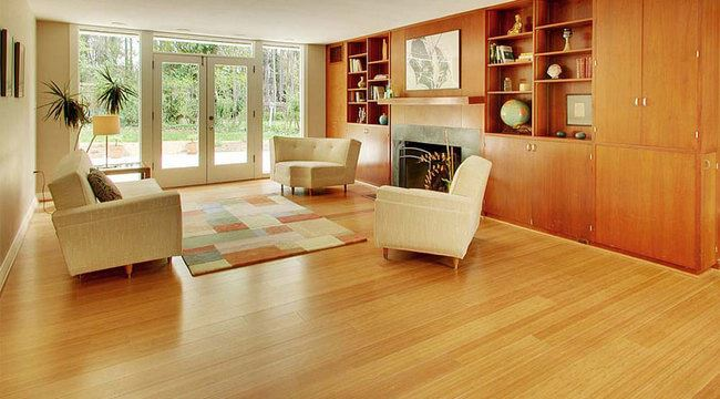 Carbonized Vertical Ambient Edge Grain Bamboo Flooring Quality0159