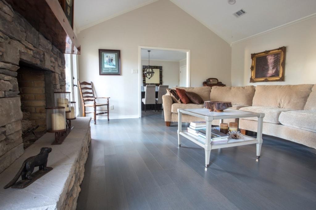 Chrome Dark  Gray Bamboo Flooring