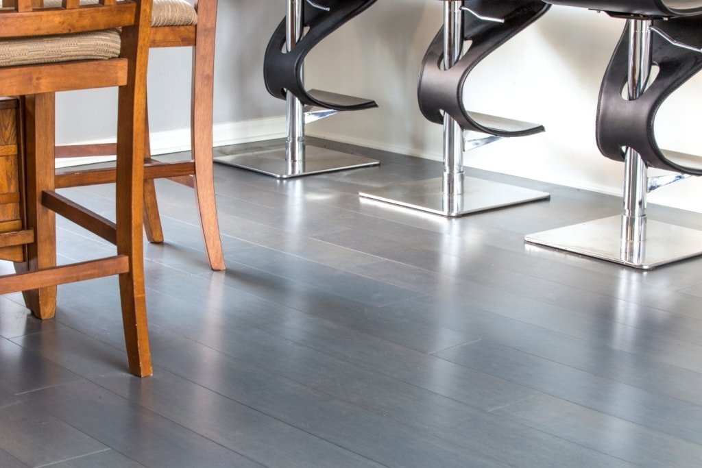 Chrome Dark  Grey Bamboo Flooring