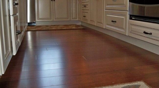 Cinnamon Wide Plank Stranded High Quality Bamboo Floors Kitchen0258