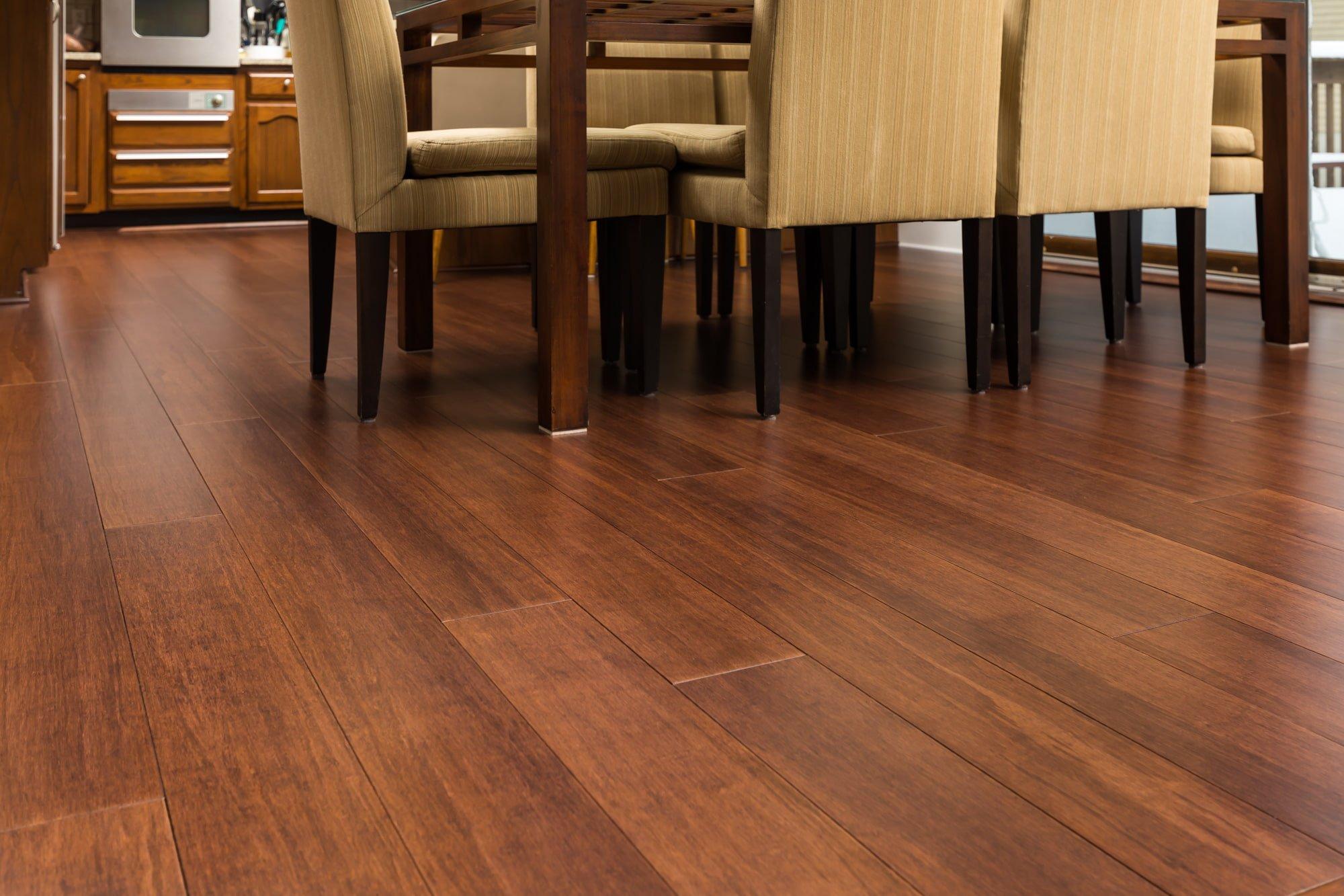 Espresso Bamboo Floor Dining Room2 min