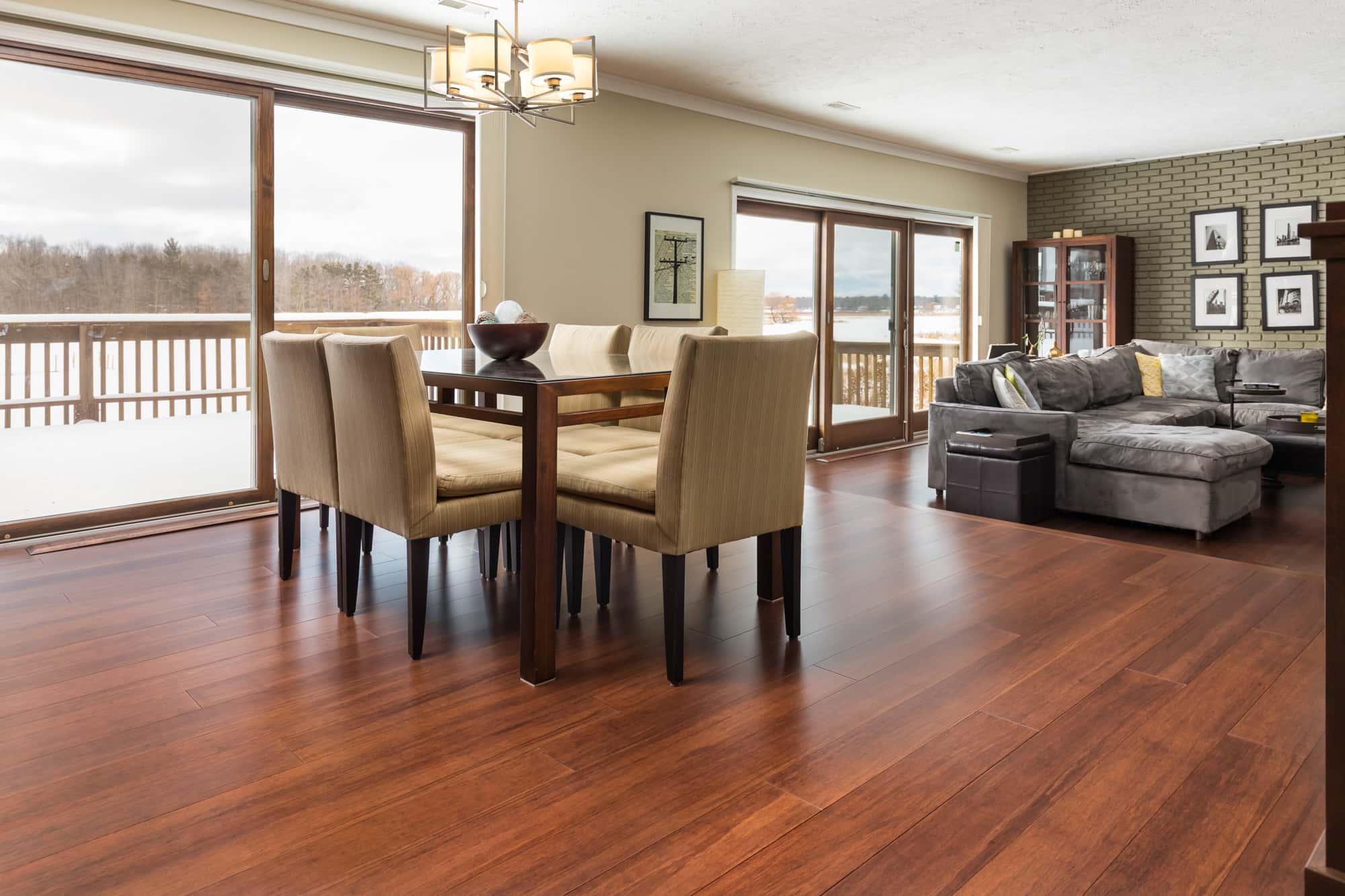 Espresso Bamboo Flooring Dining Room F min