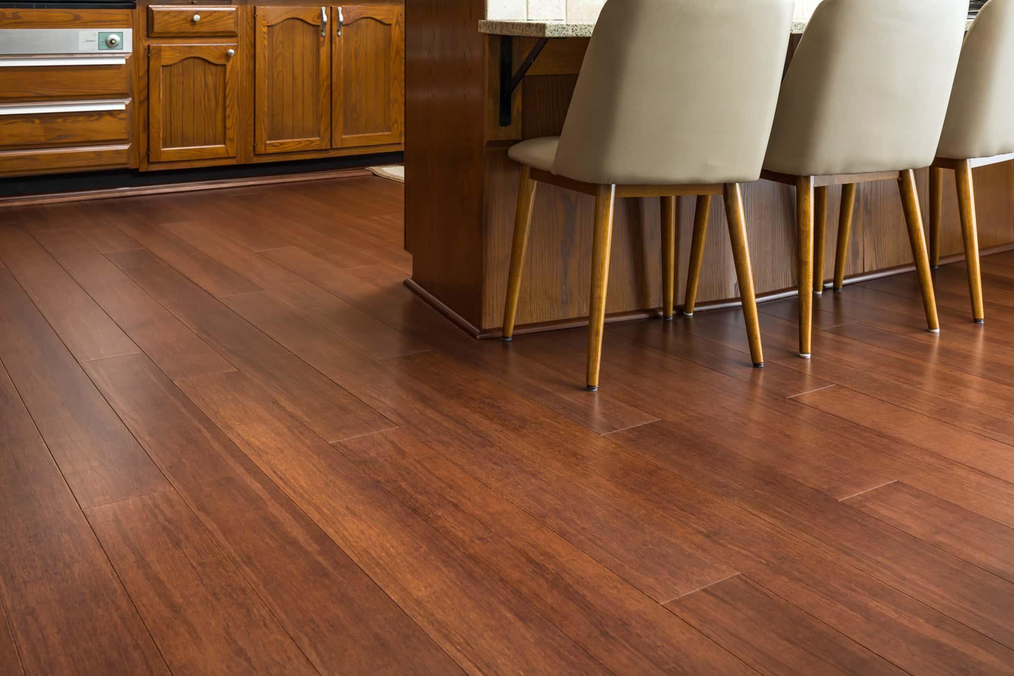 Espresso Bamboo Flooring Dining Room G min
