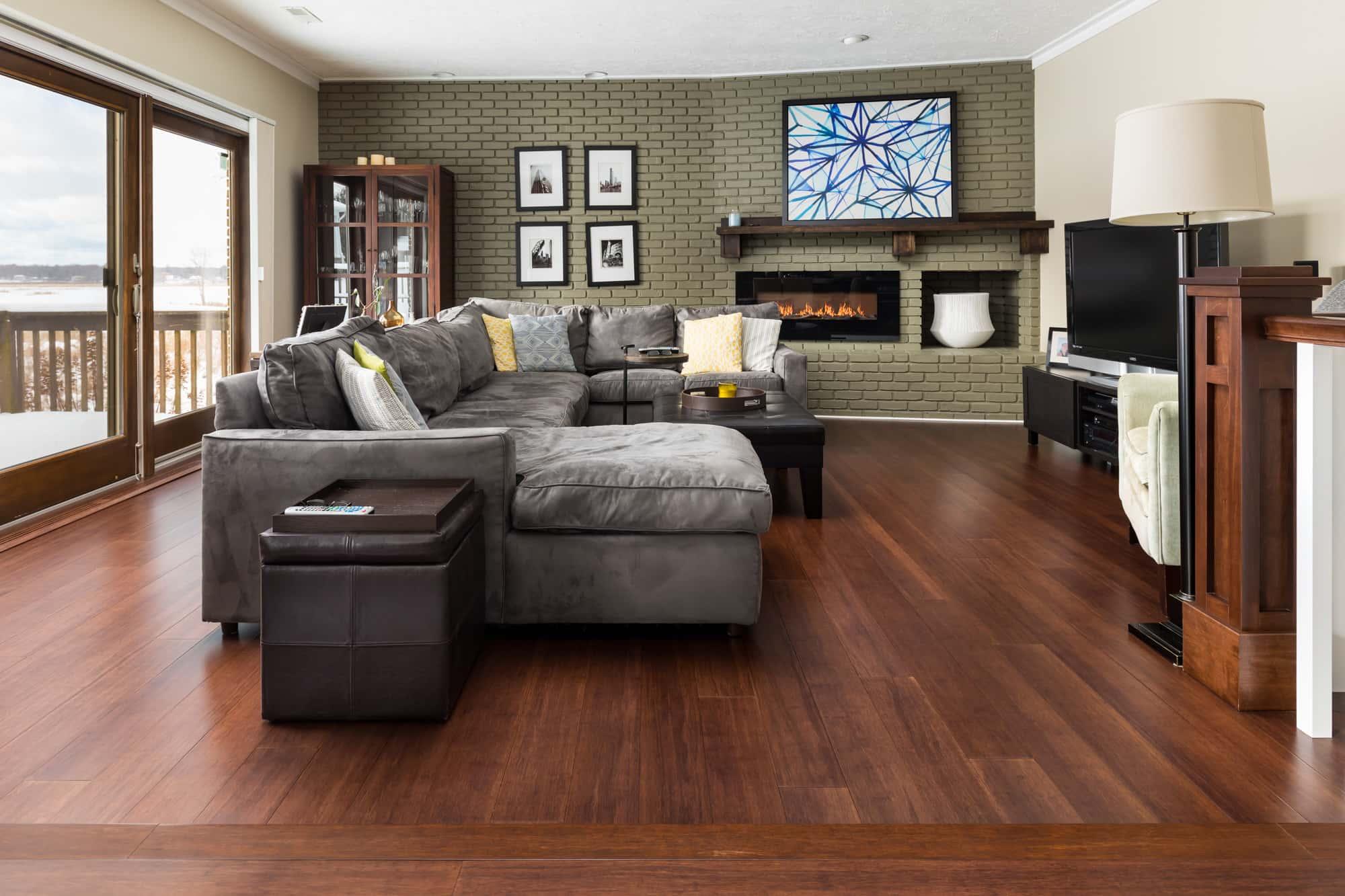 Espresso Bamboo Flooring Living Room H min