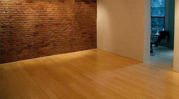 Natural Horizontal Beautiful Flat Grain Solid Ambient Bamboo Flooring455