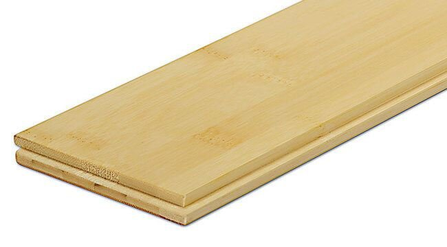 Natural Horizontal Flat Grain Glue Down Bamboo Floors621