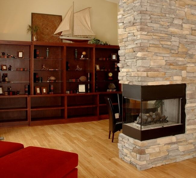 Natural Strand Woven Ambient Quality Flooring Fireplace554