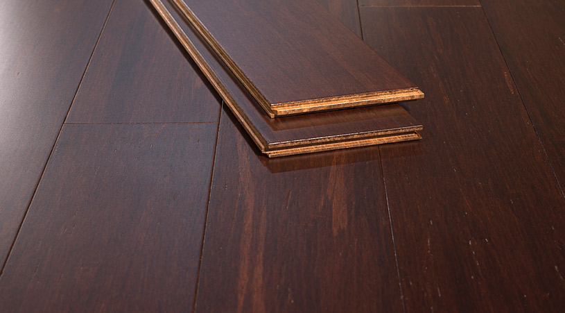 Rusic Amber Strand Bamboo Flooring F S C Certified Distressed001