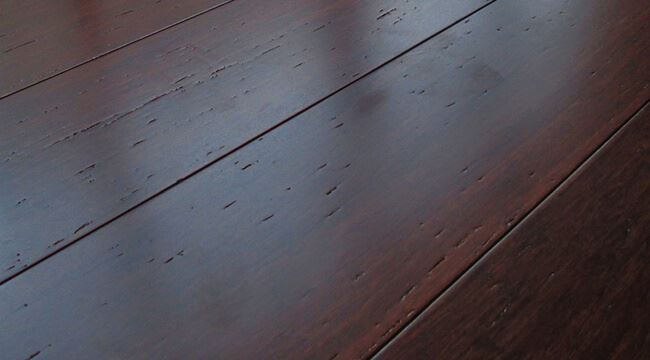 Rustic Amber Brushed Strand Woven Wide Plank Highest Janka Rating885
