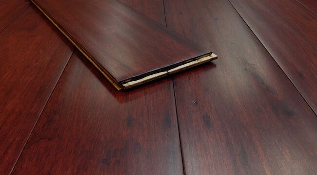 Rustic Burgundy Antiqued Best Ambient Eucalyptus Flooring020
