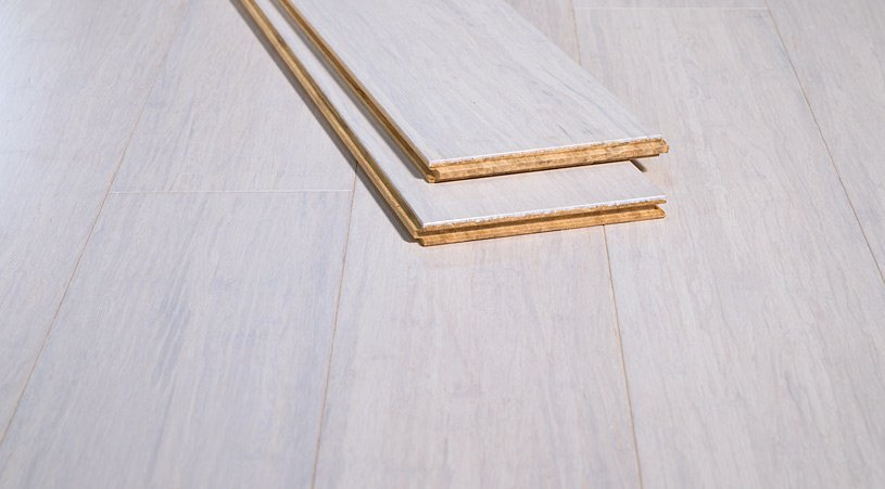 Rustic Ivory Brushed White Bamboo Hardwood Floors498
