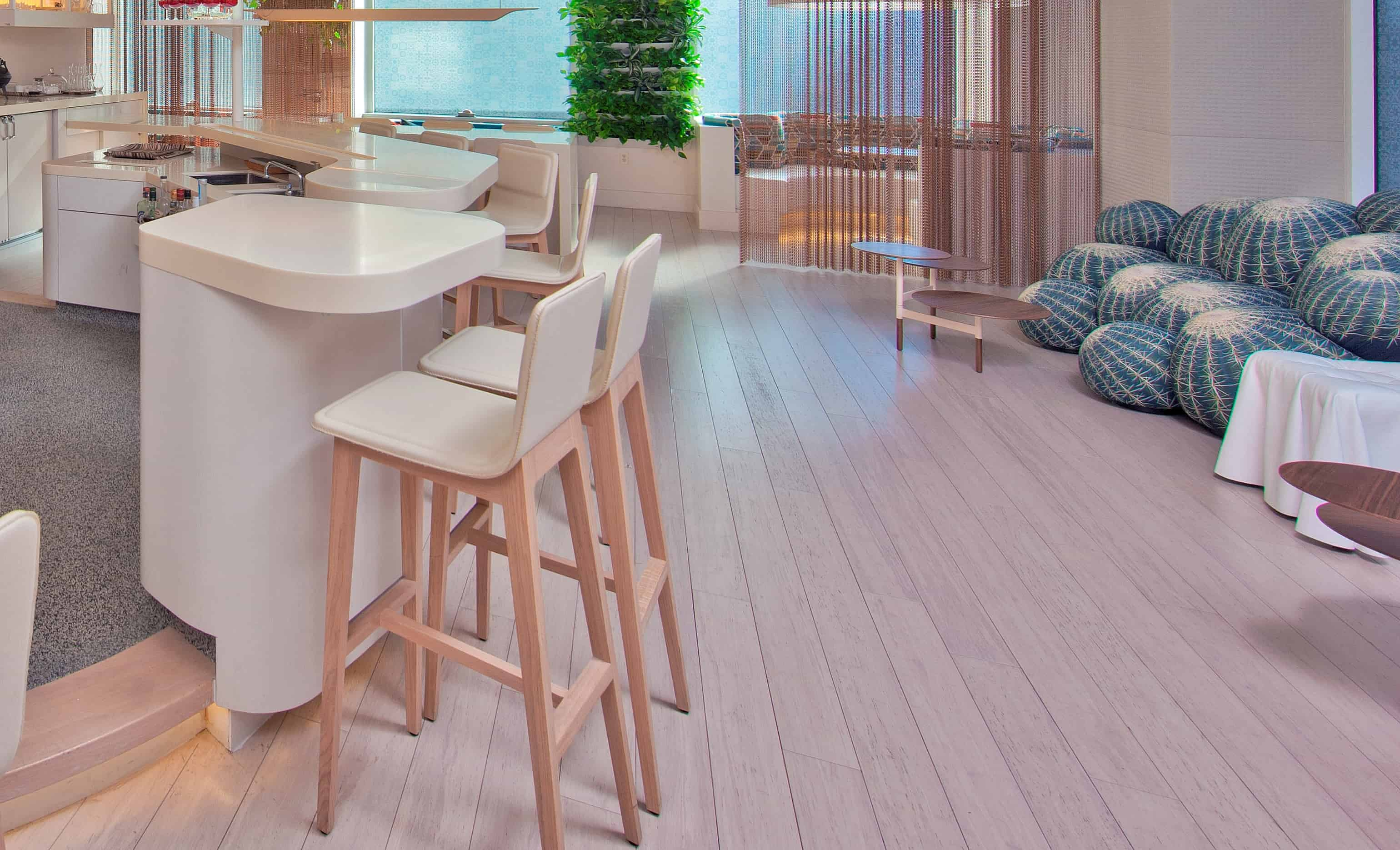 Rustic Ivory Wide Plank Strand Bamboo Floor