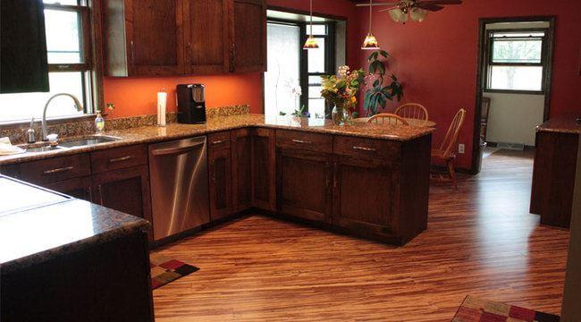 Tiger Marbled Zebra Premium Quality Bamboo Kitchen Flooring971