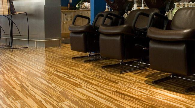 Tiger Marbled Zebra Salon Stranded Wide Plank Bamboo Flooring771