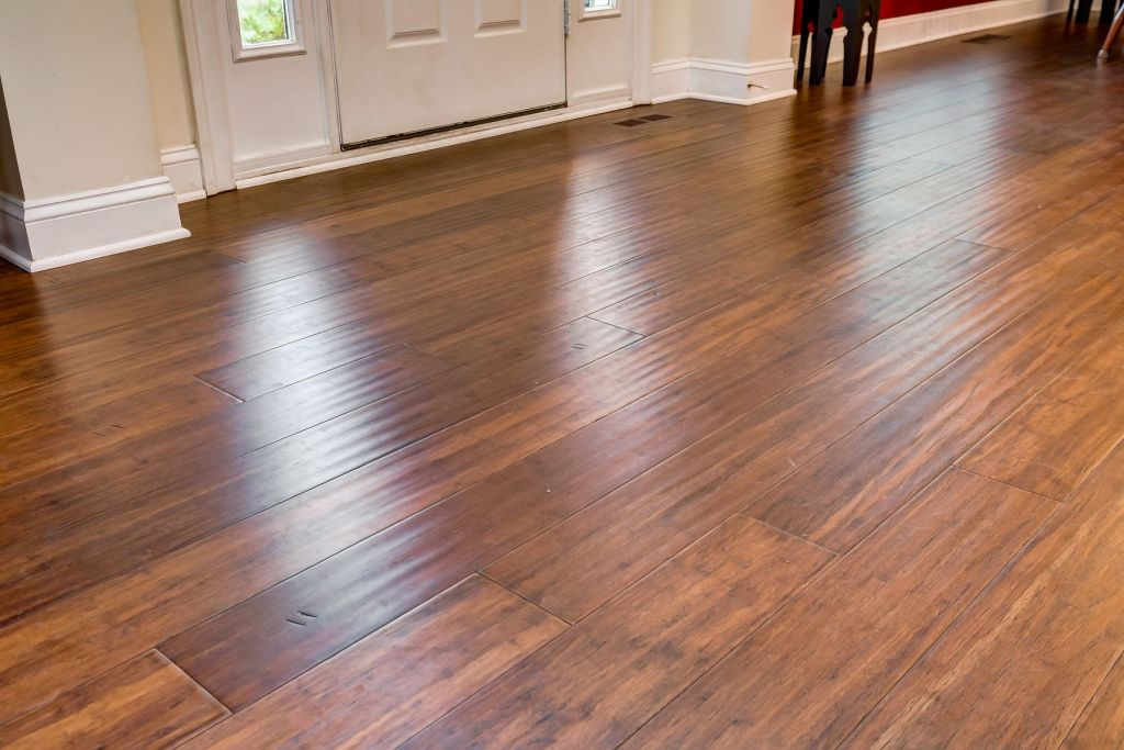 Toasted Almond Antiqued Bamboo Floorvc11