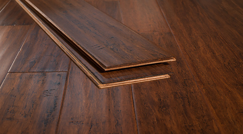 Toasted Almond Solid Glueless Bamboo Floors74