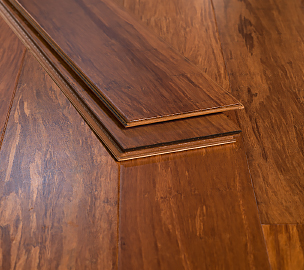 Carbonized Floating Click Strand Bamboo Floor639