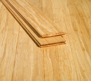 Natural Tongue Groove Solid Stranded Hardwood Bamboo Flooring776