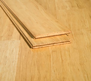 Natural Wide Plank Strand Bamboo Premium Quality Glue Down Floor559