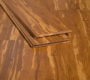 Tiger Marbled Natural Carbonized Hardwood Strand Bamboo Floors444