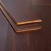 Rustic Amber Brushed Distressed Reddish Brown Glue Down Bamboo Flooring72