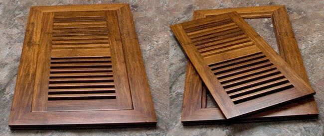 Bamboo Register Vents Dampener Covers Bamboo Grills
