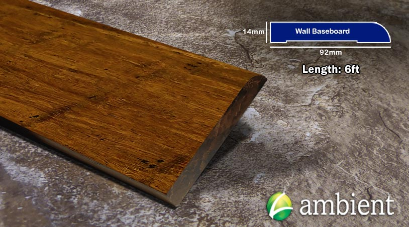 Bamboo Baseboard Wall Base Carbonized Antiqued