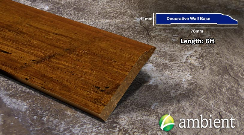 Bamboo Baseboard Wall Base Carbonized Antiqued Dec