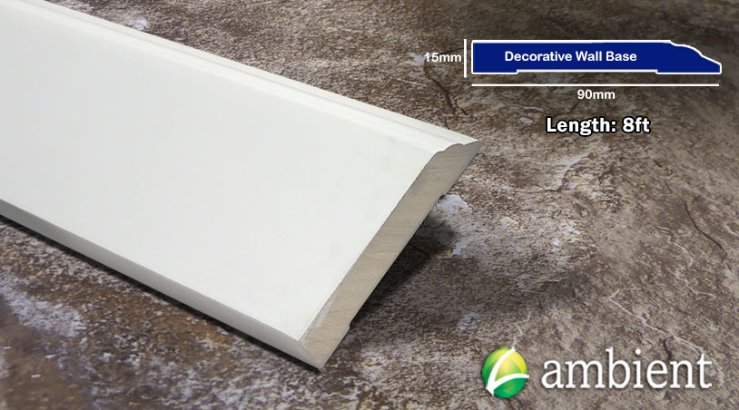 Bamboo Baseboard Wall Base Decorative White