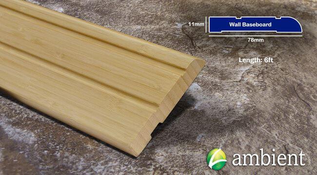Bamboo Baseboard Wall Base Natural Vertical