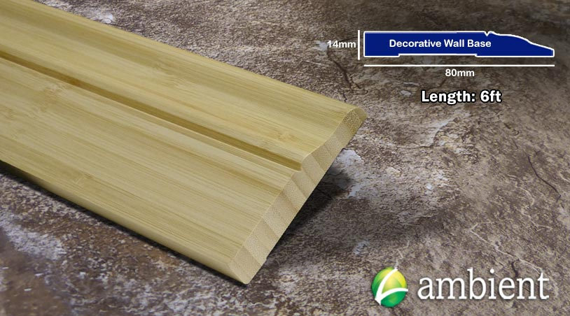 Bamboo Baseboard Wall Base Natural Vertical Dec