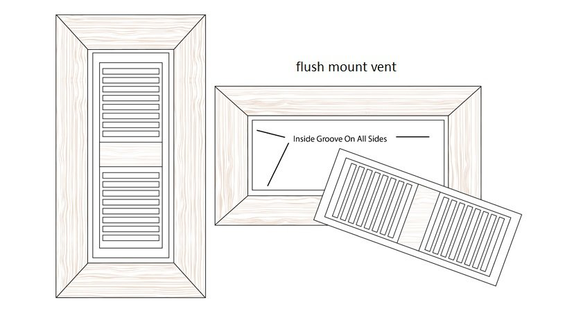 Bamboo Flush Mount Register Vent Cover Diagram