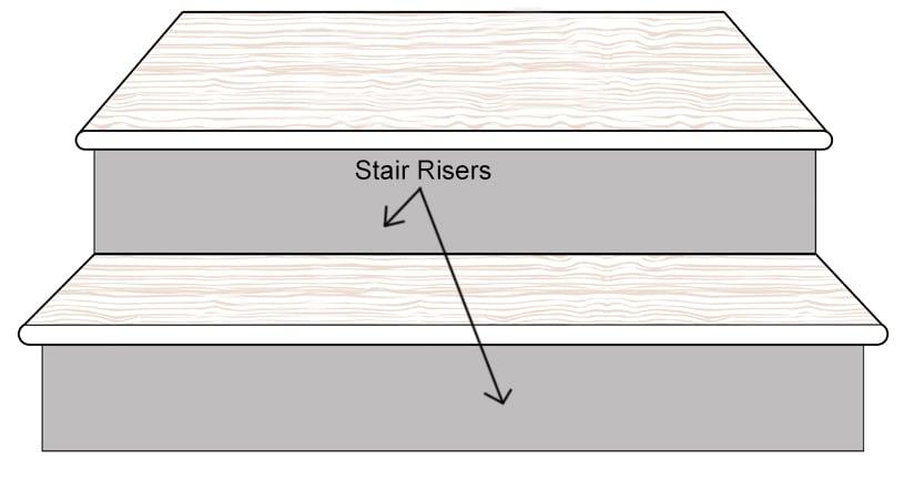 Bamboo Stair Riser Up Board Diagram