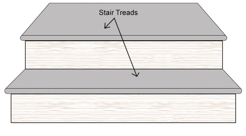 Bamboo Stair Tread Step Landing Diagram