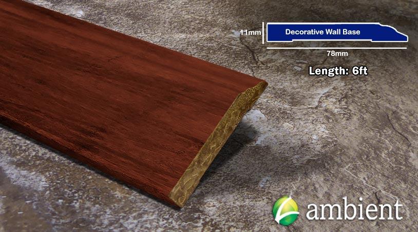 Decorative Wall Base Solid Base Board Bamboo Cinnamon