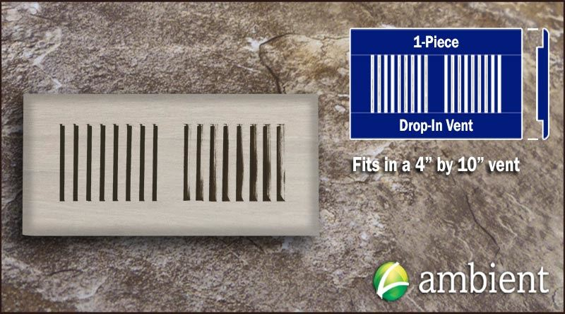 Drop In Bamboo Register Vent Cover4x10 Ivory Dist