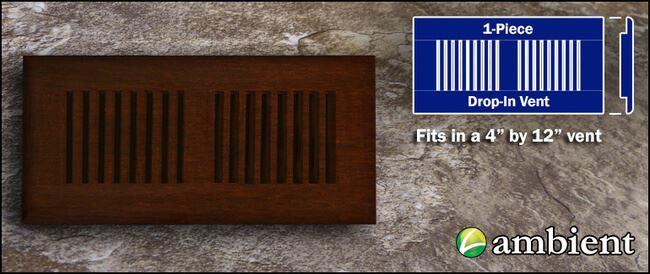 Drop In Bamboo Register Vent Cover4x12 Espresso Dist