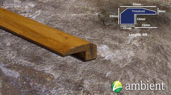 Eucalyptus Threshold Endcap Aged Bourbon6ft