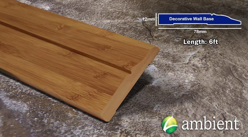 Horizontal Bamboo Baseboard Wallbase Carbonized Decorative