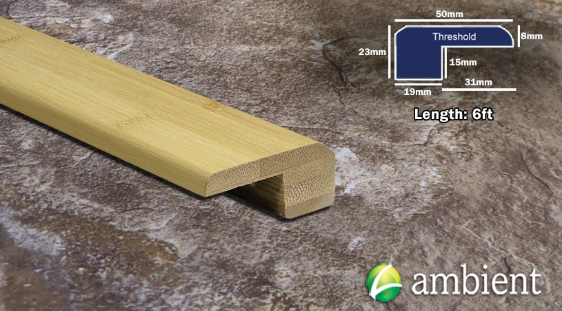 Horizontal Bamboo Round Threshold Endcap Natural