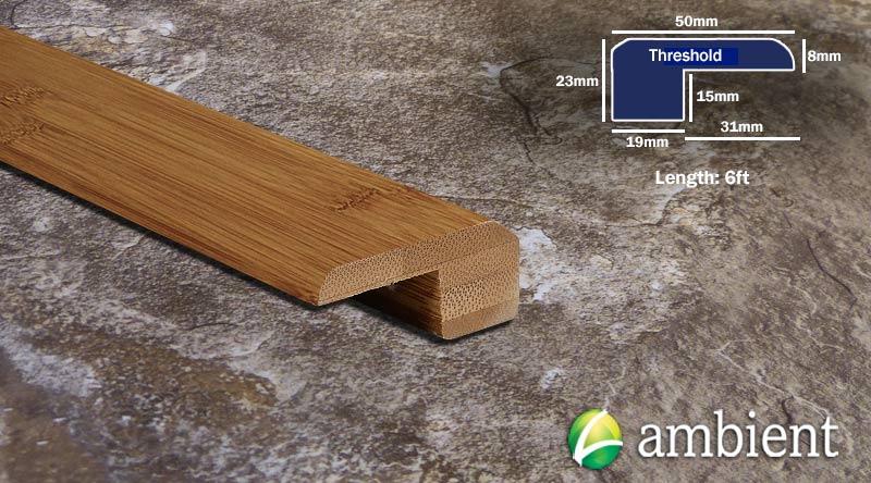 Horizontal Bamboo Threshold Endcap Carbonized R