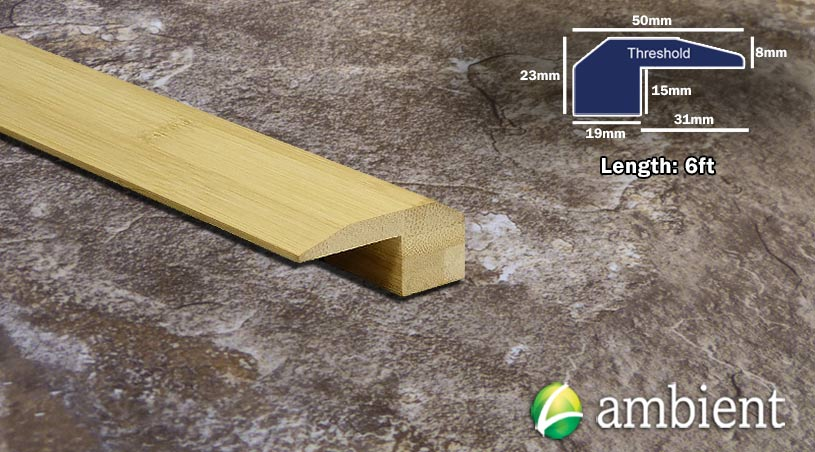 Horizontal Bamboo Threshold Endcap Natural