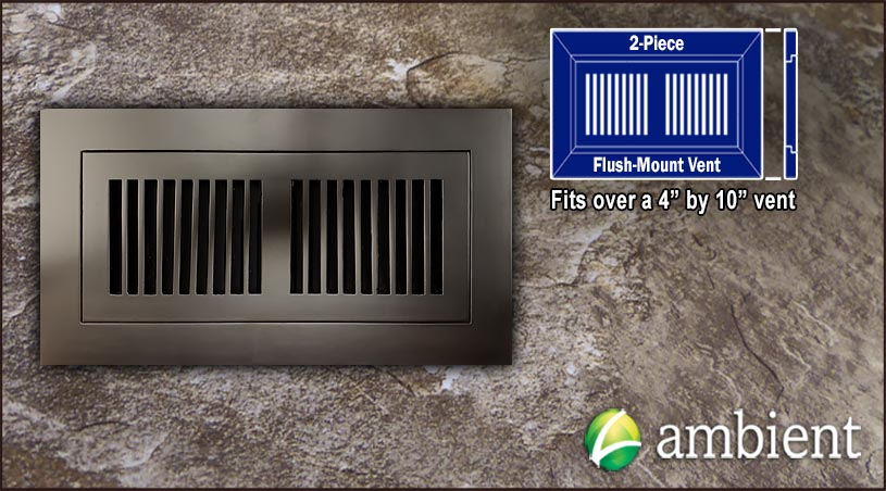 Register Vent Flush Mount Bamboo4x10 Coffee
